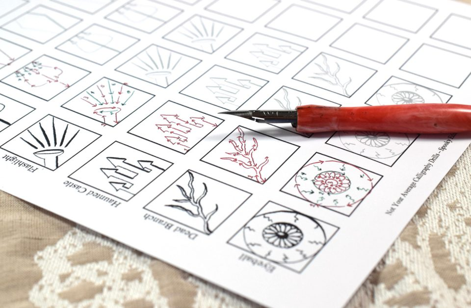 About the Not Your Average Calligraphy Drills: Spooky Edition Packet   The Postman's Knock