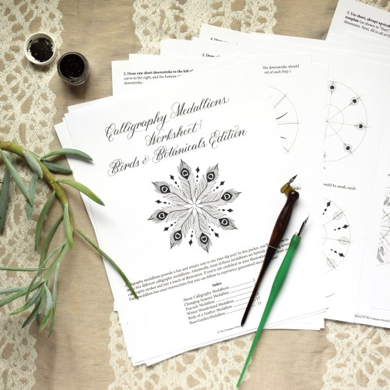 In this packet, you'll learn how to make five artistic and unique calligraphy medallions!