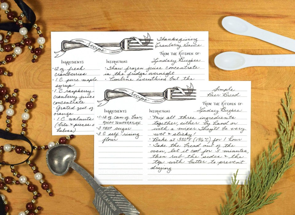 Recipe Cards | The Postman's Knock