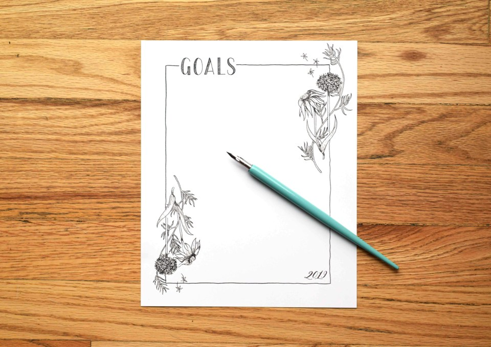 The Ultimate New Year's Resolutions Guide + Printable Goal List | The Postman's Knock