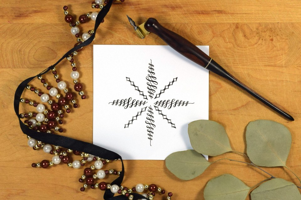 Three Different Ways to Draw a Snowflake | The Postman's Knock