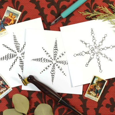 Three Different Ways to Draw a Snowflake