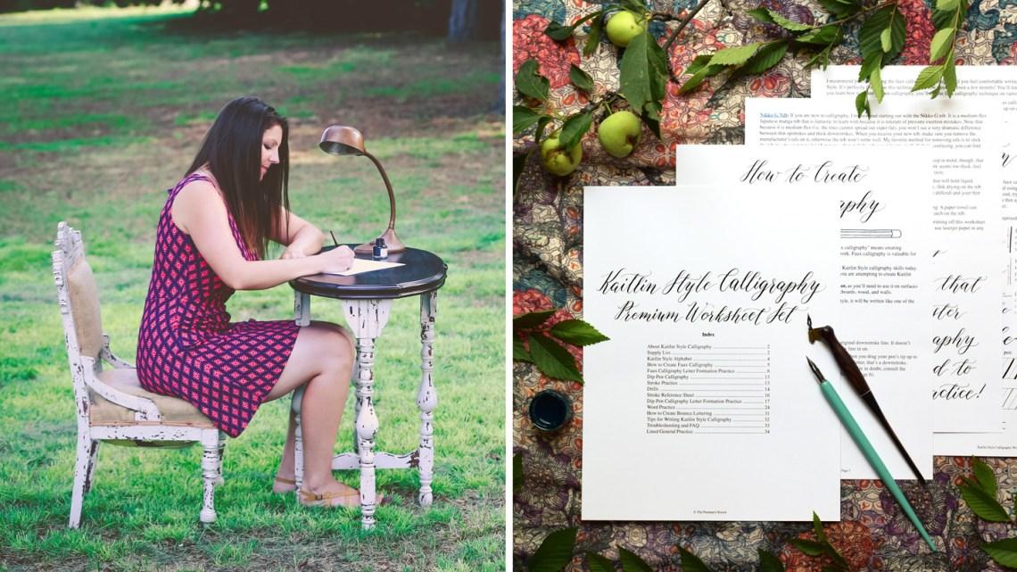 TPK Printable Calligraphy Worksheets