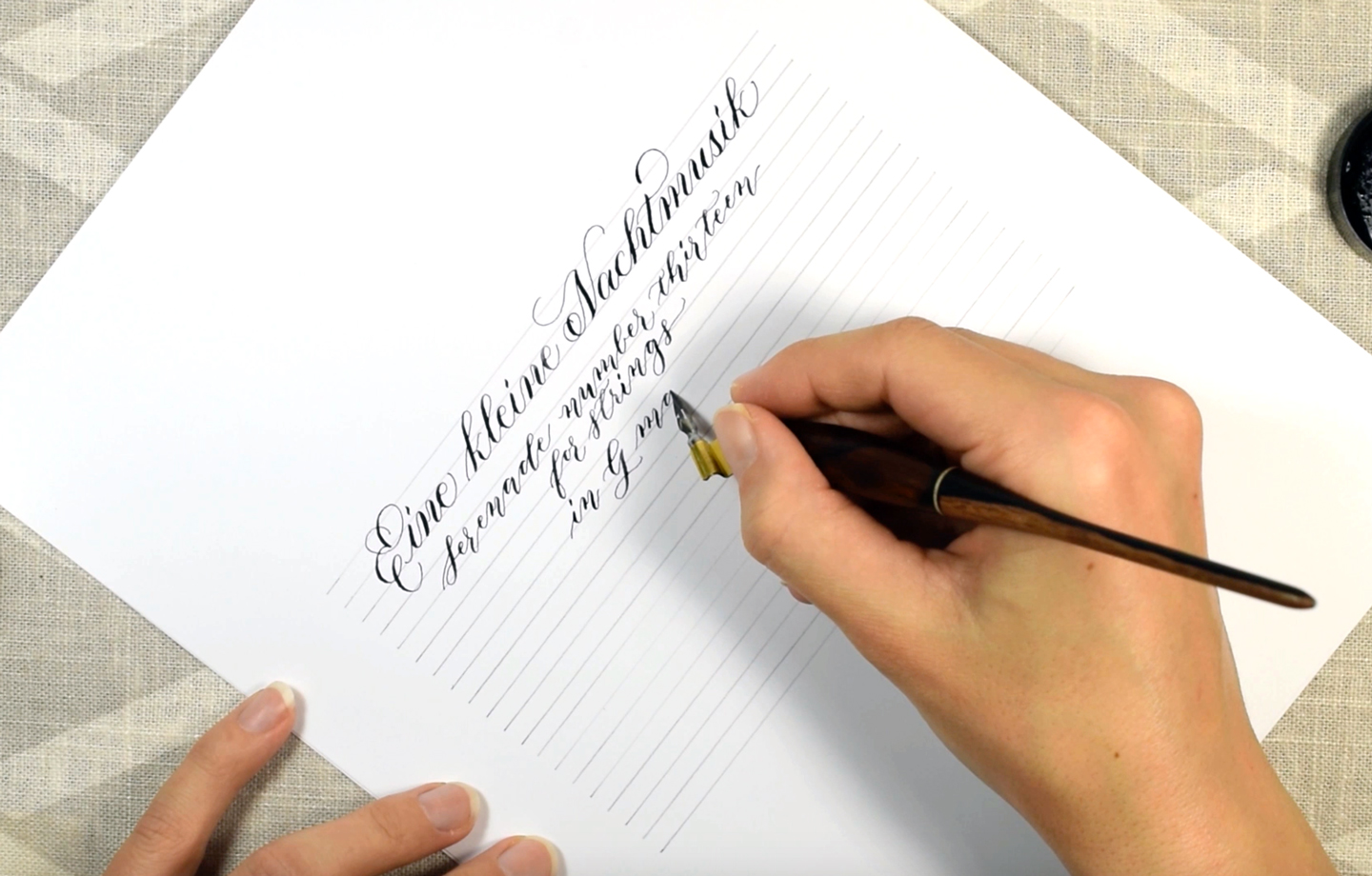 """""""Eine kleine Nachtmusik"""" Calligraphy - A Relaxing YouTube Video 