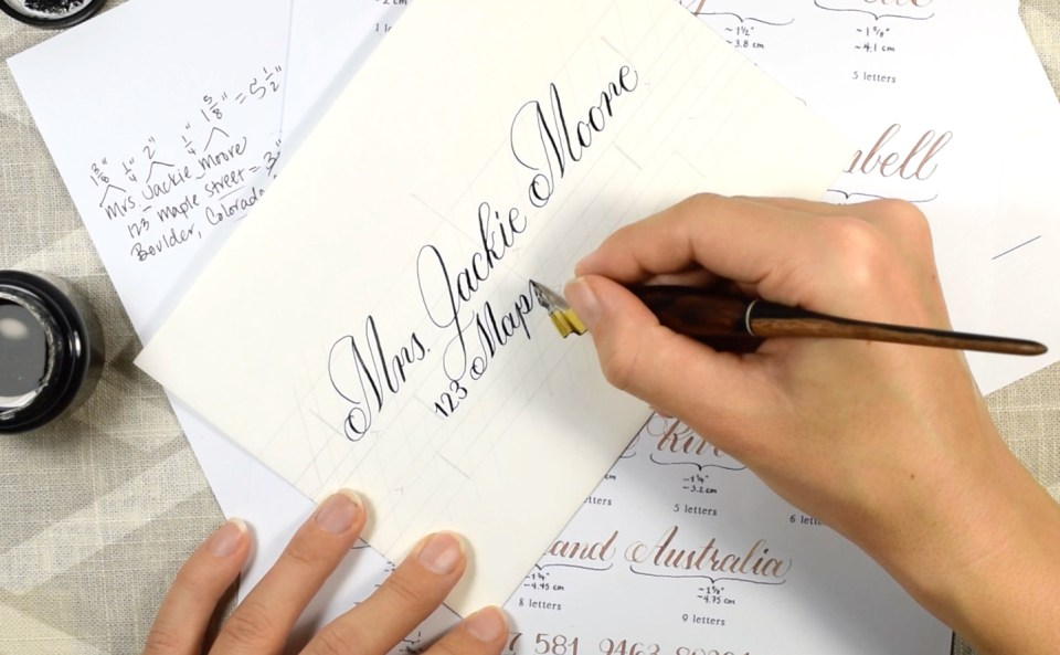 Janet Style Calligraphy Envelope