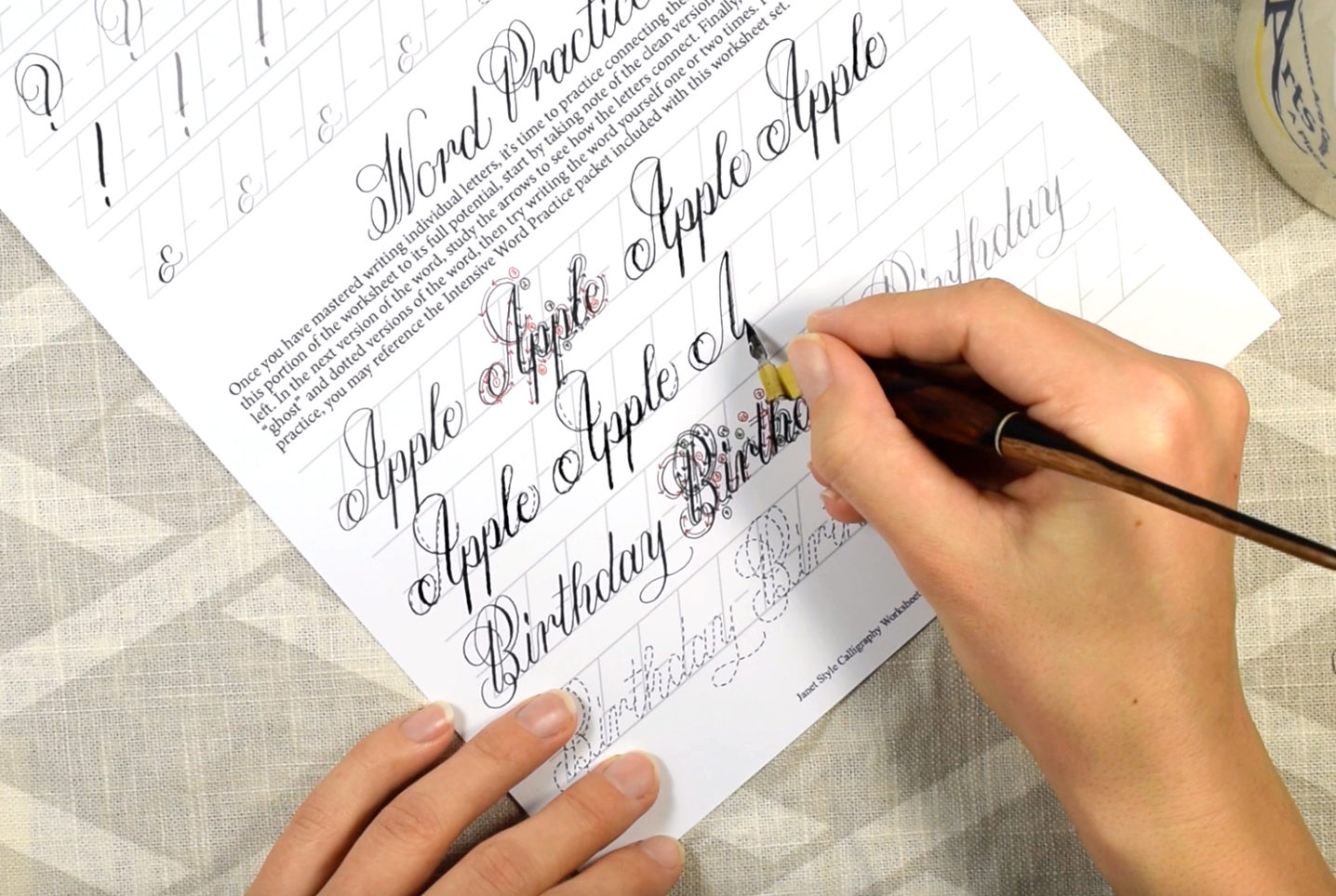 Janet Style Calligraphy Video Course   The Postman's Knock