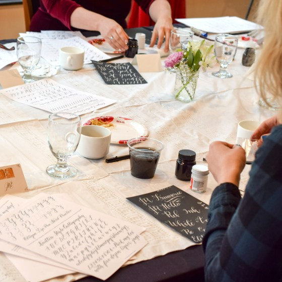 One of my favorite parts of this workshop? Getting to teach you how to write using white ink!