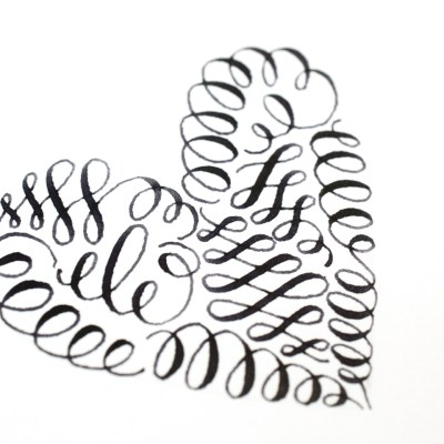 Calligraphy Art Tutorial: How to Make a Flourished … Well, Anything!