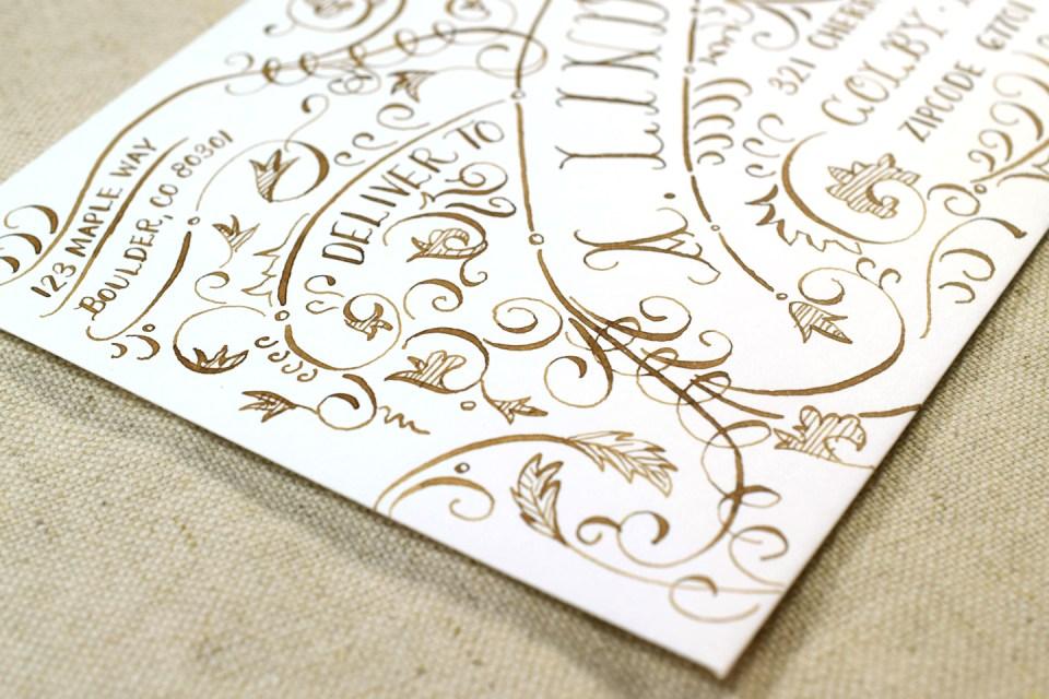 Typography Envelope Art Video Tutorial   The Postman's Knock