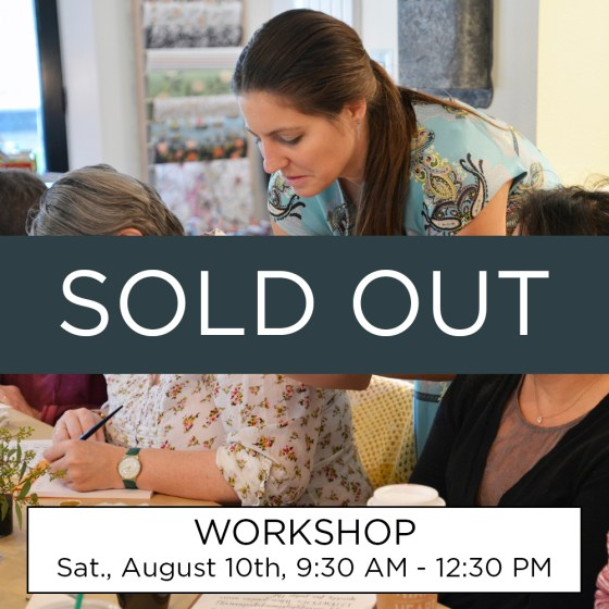 Sorry! This workshop is sold out.