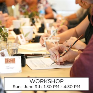 This workshop will take place Sunday, June 9th, from 1:30 PM to 4:30 PM