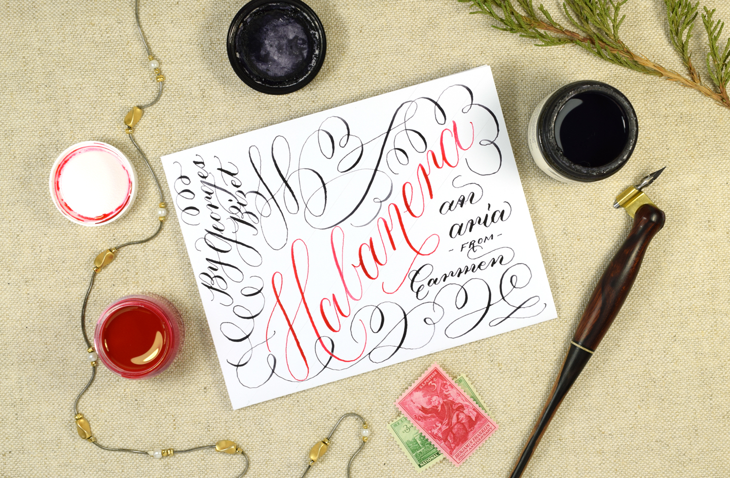 Habanera: A Musical Calligraphy Video   The Postman's Knock