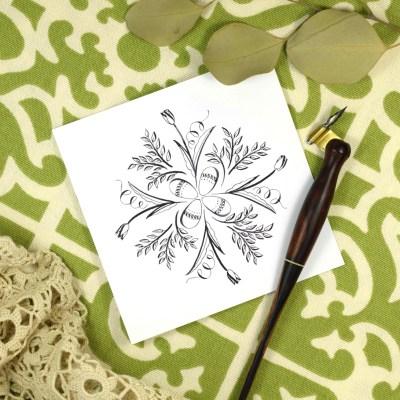 Springtime Calligraphy Medallion Tutorial