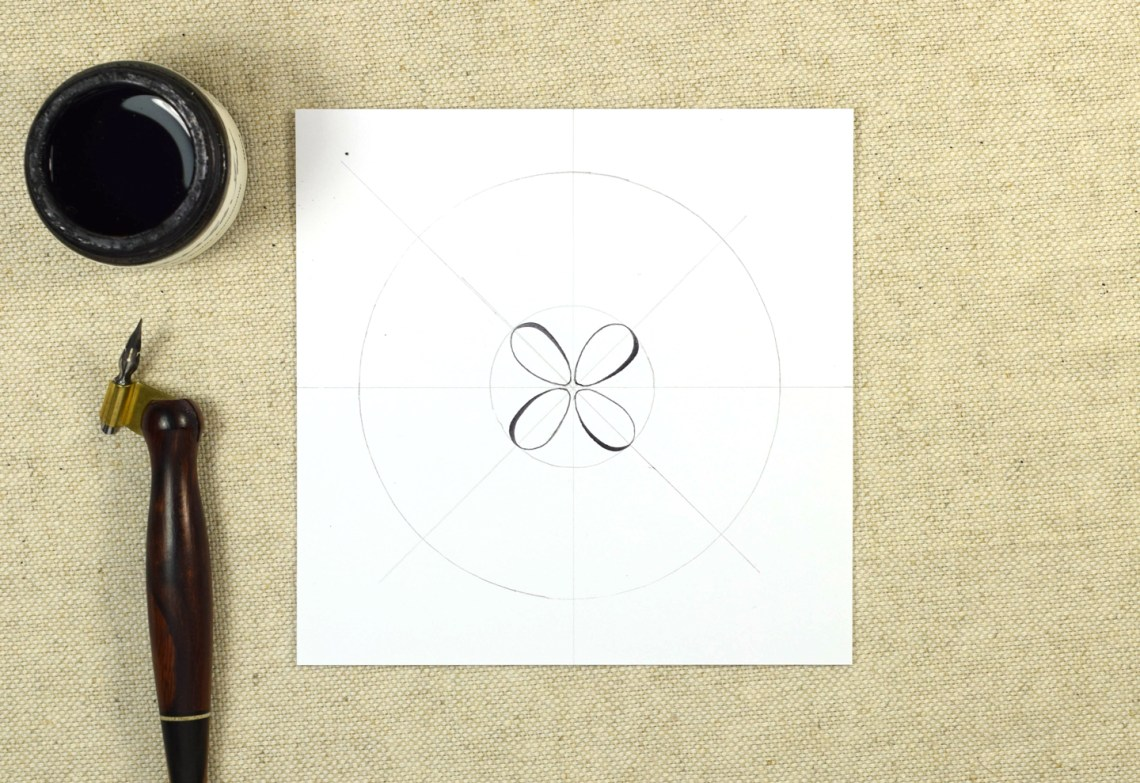 Springtime Calligraphy Medallion Tutorial | The Postman's Knock