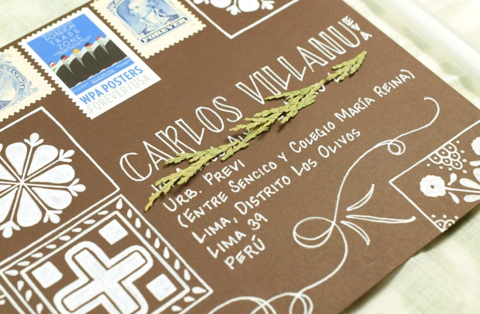 (Seriously Gorgeous!) Talavera Mexican Tile Mail Art Tutorial | The Postman's Knock