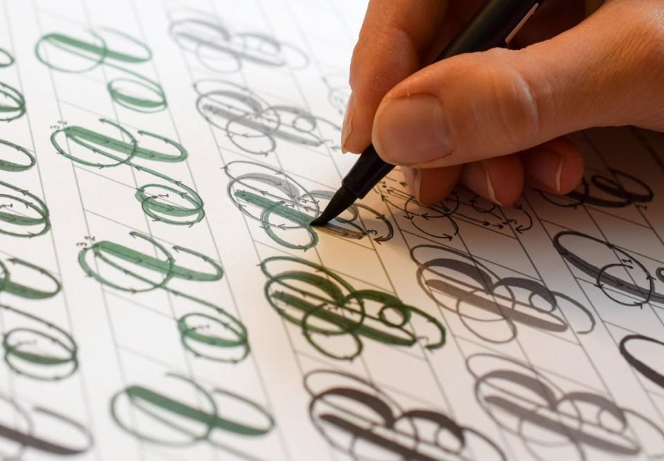 Janet Style Brush Pen Calligraphy