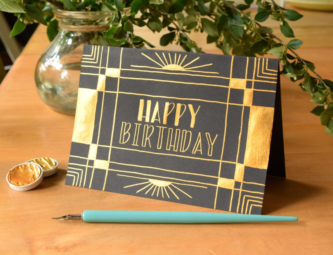 Art Deco Birthday Card Tutorial | The Postman's Knock