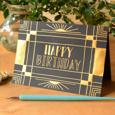 An Art Deco Birthday Card Tutorial