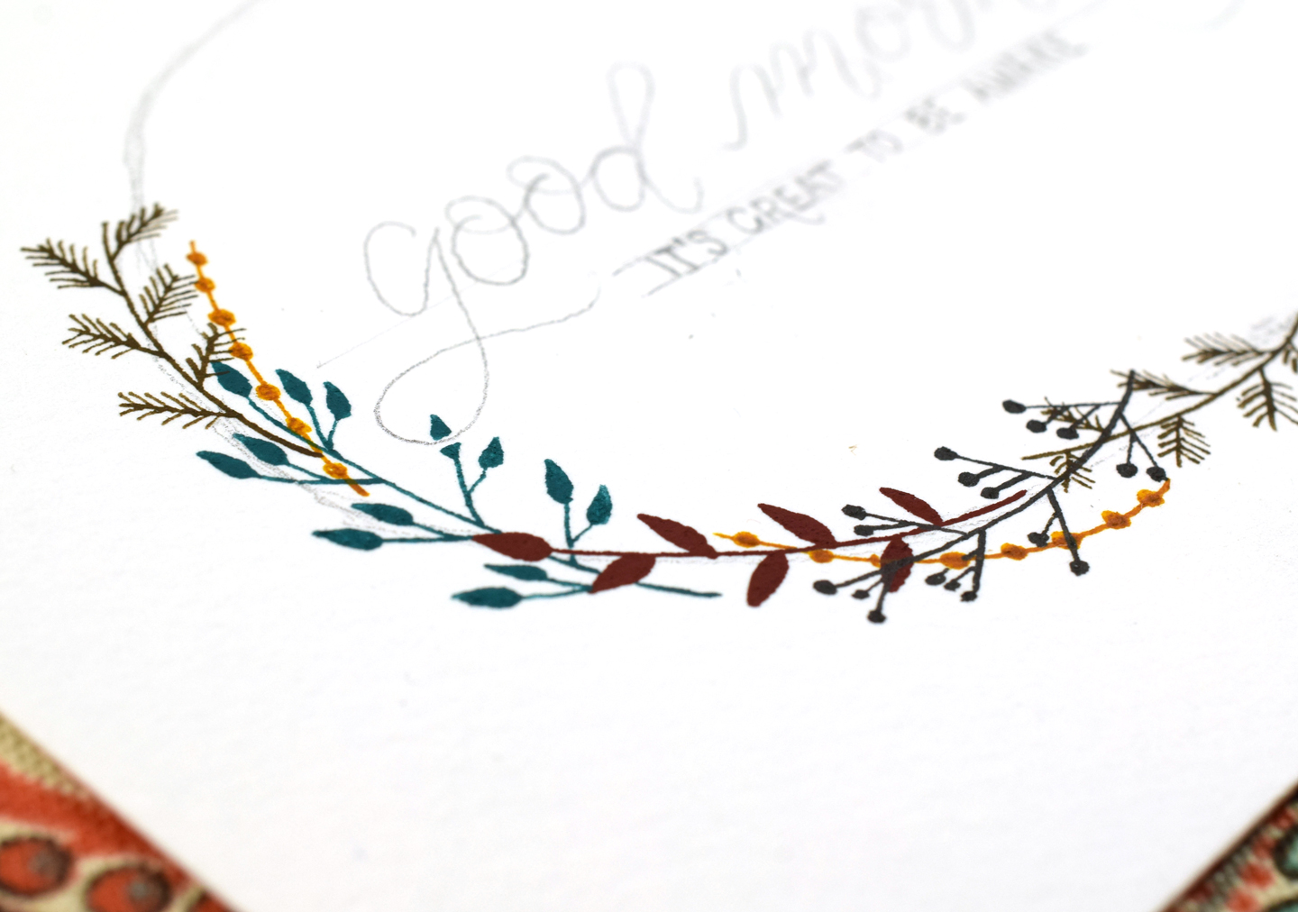 Botanical Watercolor Wreath Tutorial | The Postman's Knock