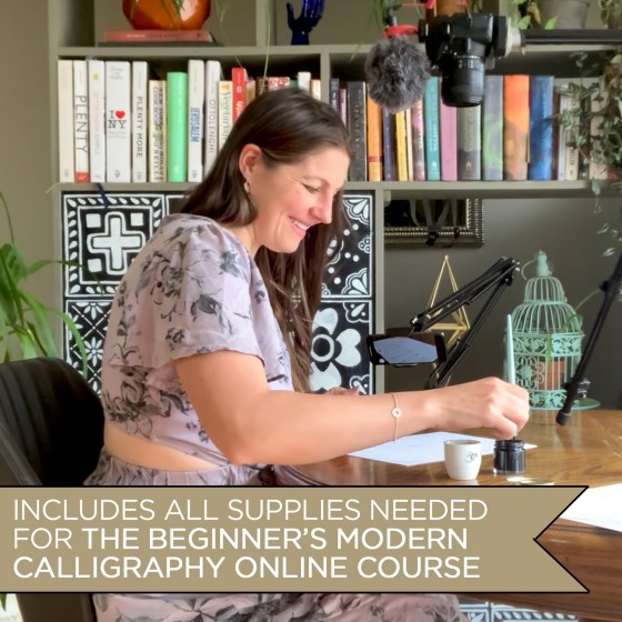 You don't have to enroll in TPK's Beginner's Modern Calligraphy Online Course to use this kit, but taking the course will help tremendously!