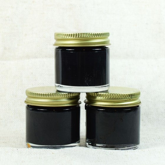 This jar is lovely when it's empty, but it's even prettier when it's filled with ink!