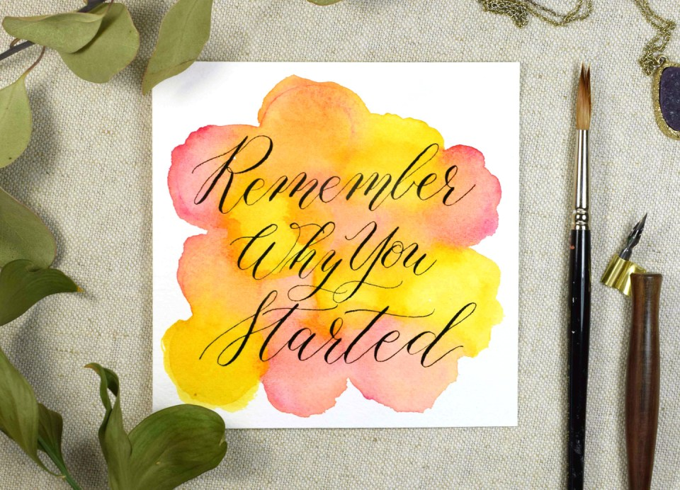 How to Combine Calligraphy and Watercolors | The Postman's Knock