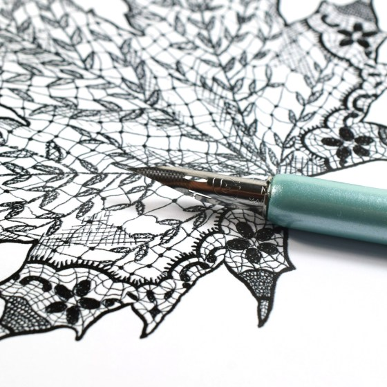 This leaf was hand-drawn using a Nikko G nib and sumi ink!