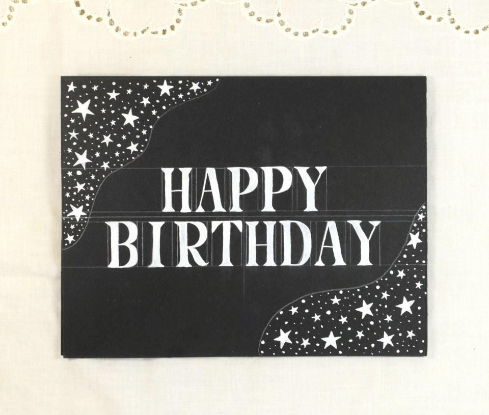 Simple Starry Birthday Card Tutorial   The Postman's Knock