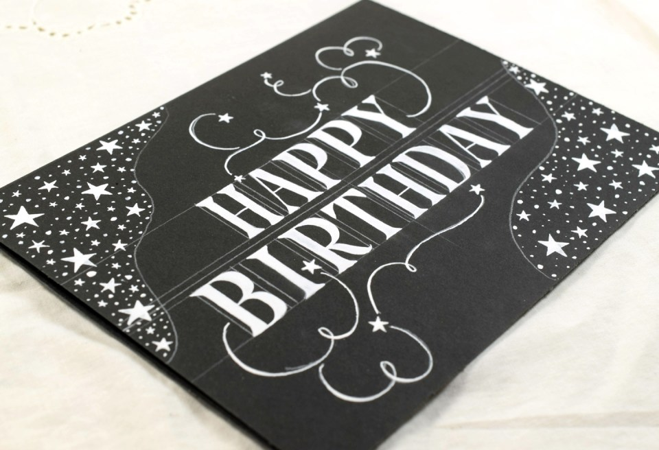 Simple Starry Birthday Card Tutorial | The Postman's Knock