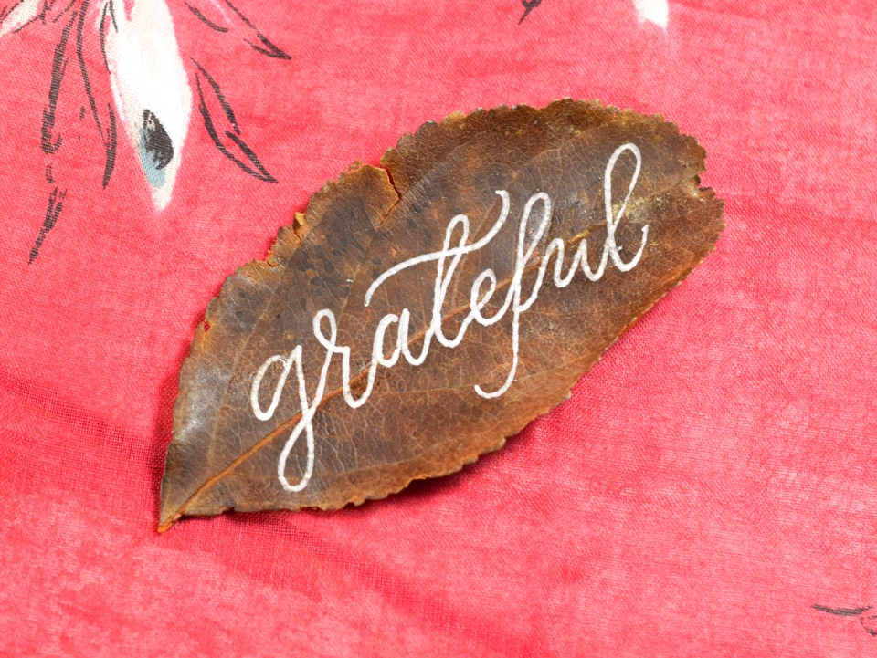 """Step 1: """"Grateful"""" Leaf Motif"""