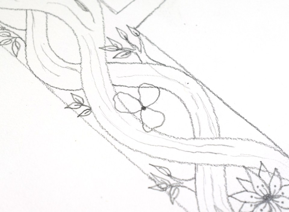 Drawing Flower 2: Step 1