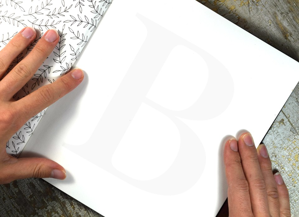 "The Letter ""B"", Ready for Tracing"