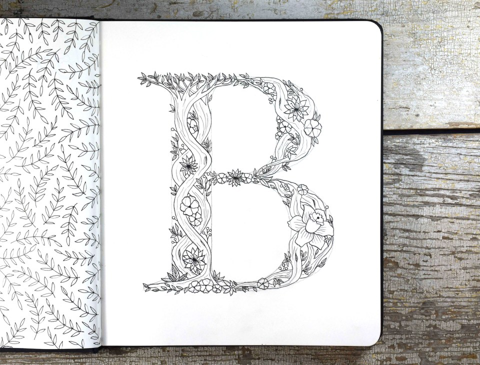 "The inked ""B"""