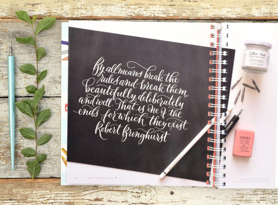 """Quote from """"Mastering Modern Calligraphy"""""""