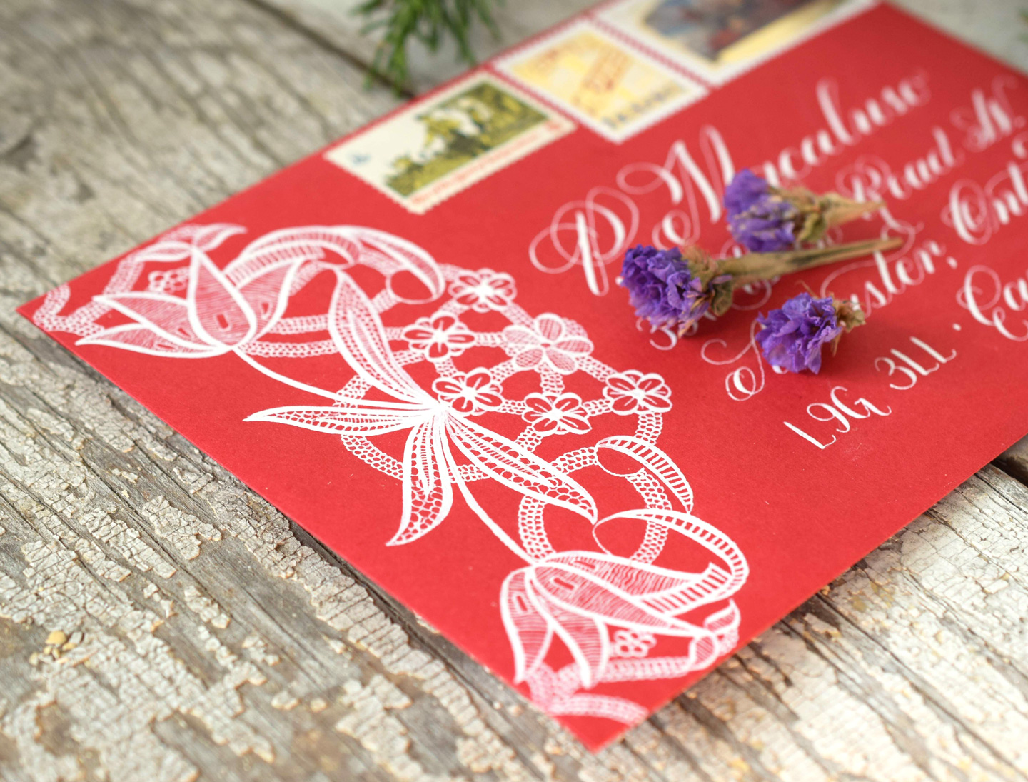 Floral Illustrated Lace Motif