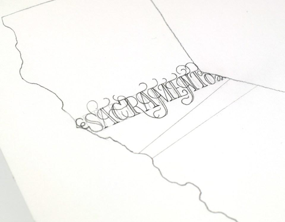 """""""Sacramento"""" in Lasso Lettering"""