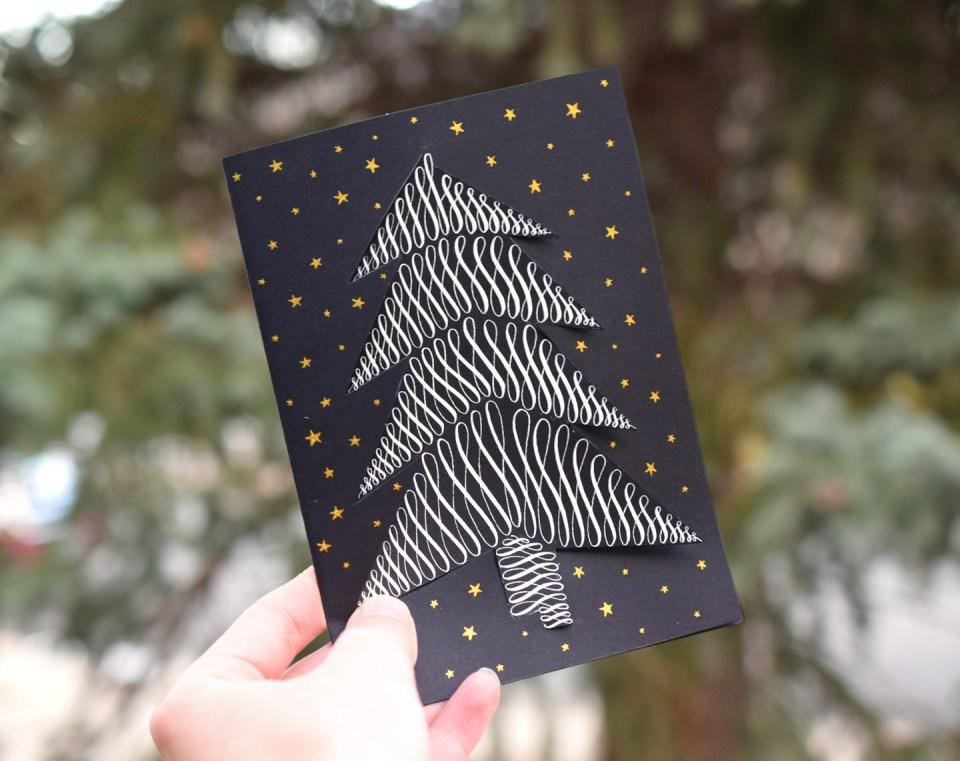 Tasteful Twist-Out Tree Holiday Card Tutorial