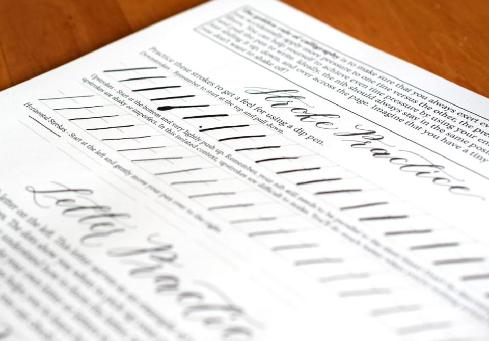Beginner Calligraphy Stroke Practice