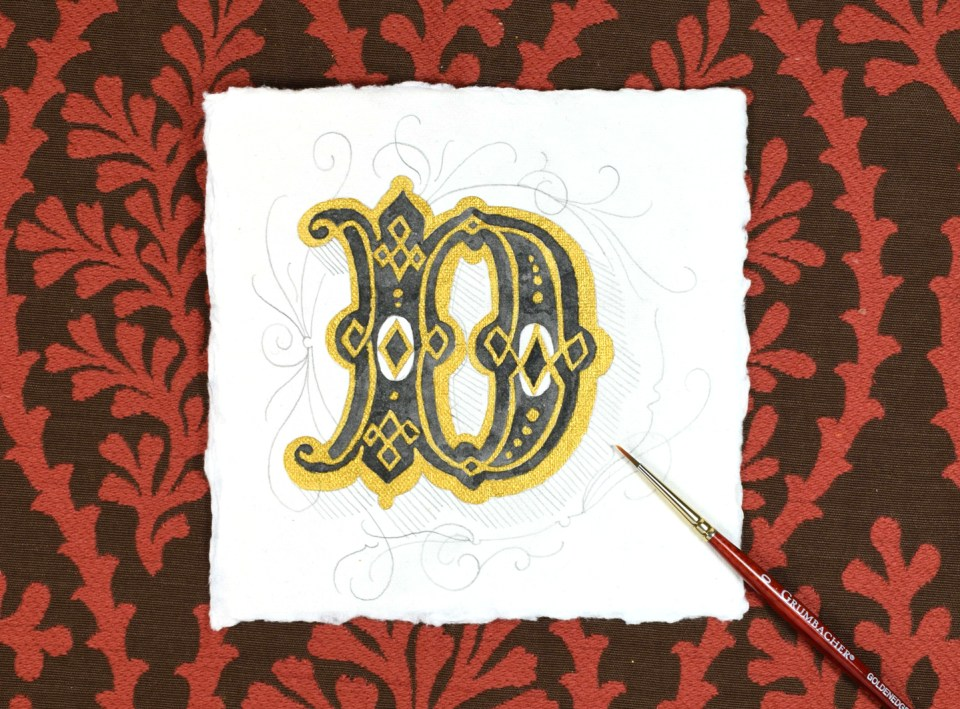 Adding Sepia Ink to a Letter | The Postman's Knoc