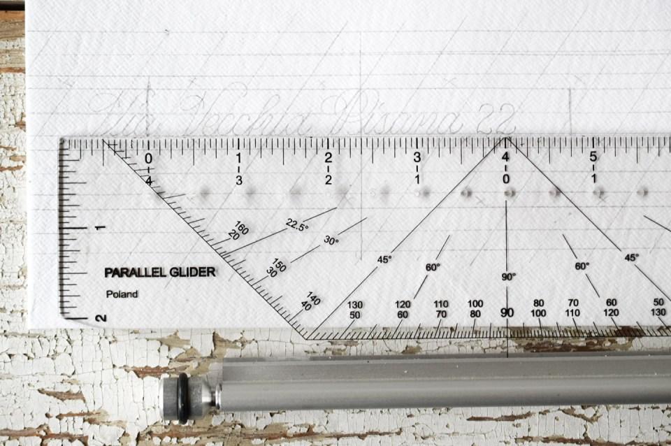 Pencil Envelope Calligraphy Draft