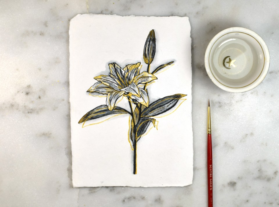 Adding Finishing Touches to the Lily Drawing Tutorial