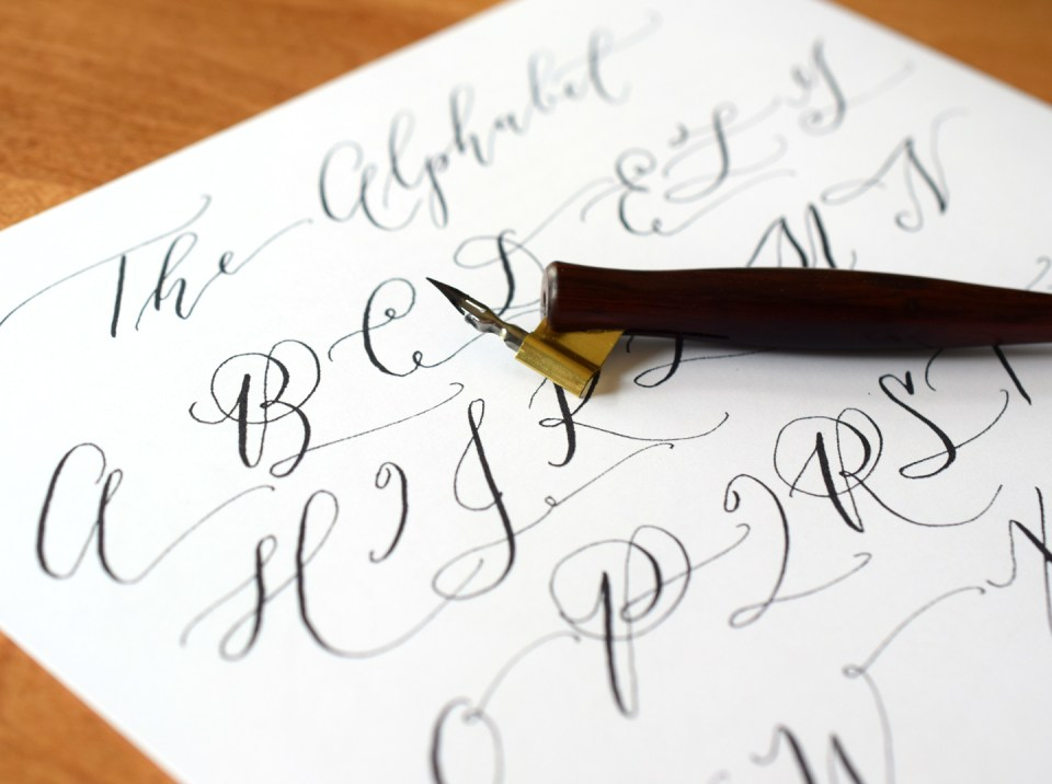 Cocktail Casual Calligraphy Worksheets