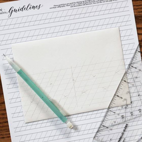 These guidelines are also great for making guidelines on envelopes!