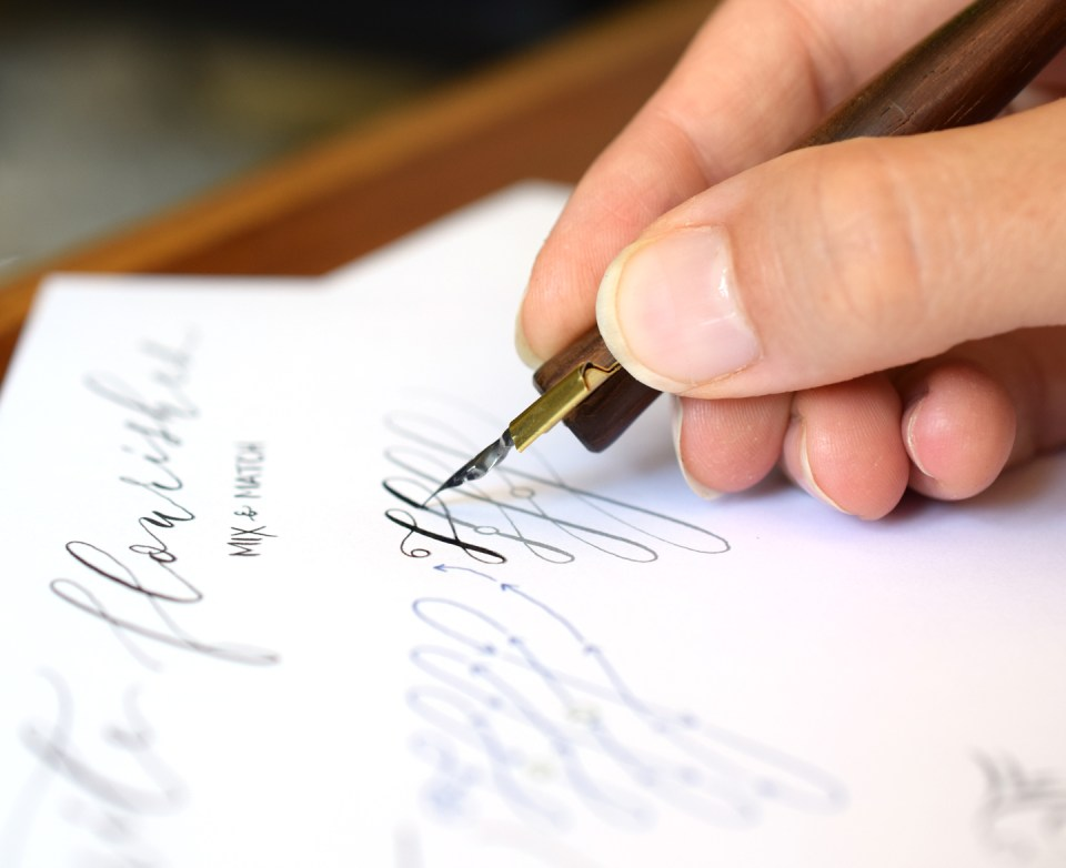 Free Calligraphy Flourishes Worksheet