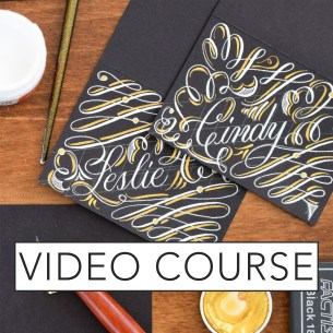 Intermediate Modern Calligraphy Online Course
