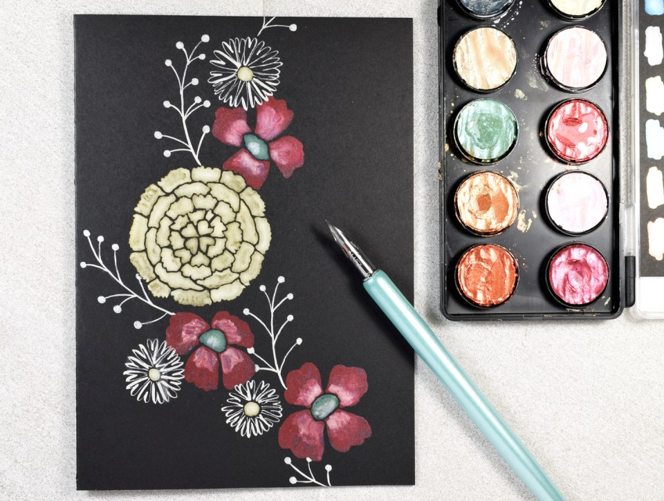 Using Finetec Watercolor to Paint