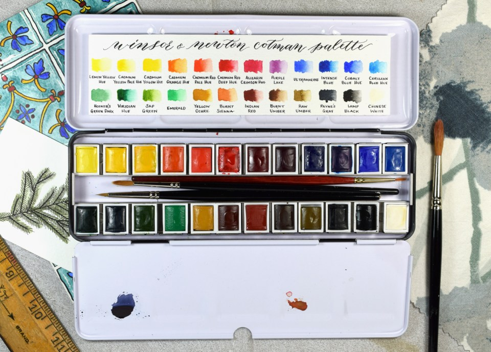 Making a Watercolor Color Chart