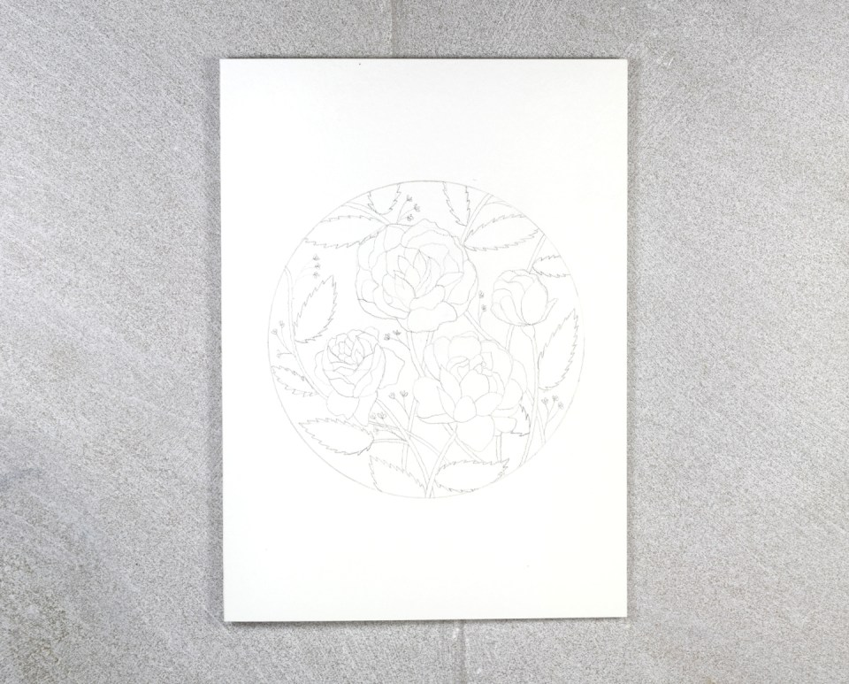 Pencil Draft of Floral Illustration