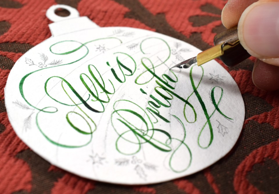 Making Watercolor Calligraphy
