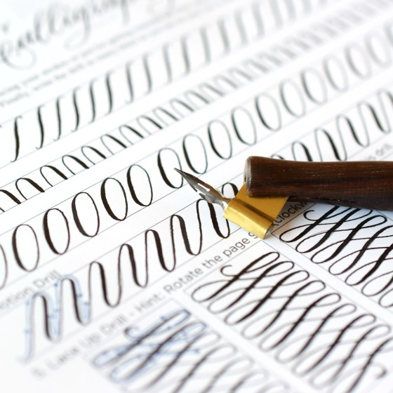 You can use any pen and nib combination to fill this worksheet out.